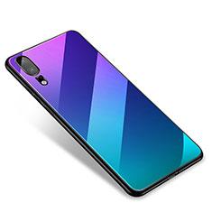 Coque Contour Silicone et Vitre Miroir Housse Etui M01 pour Huawei P20 Mixte