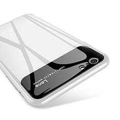 Coque Contour Silicone et Vitre Miroir Housse Etui pour Apple iPhone 6S Plus Blanc