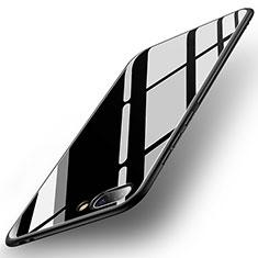 Coque Contour Silicone et Vitre Miroir Housse Etui pour Huawei Honor 10 Noir