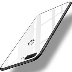 Coque Contour Silicone et Vitre Miroir Housse Etui pour Huawei Honor 9i Blanc