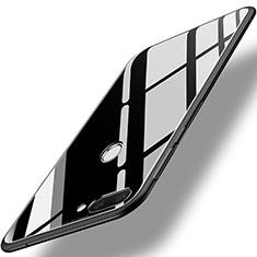 Coque Contour Silicone et Vitre Miroir Housse Etui pour Huawei Honor 9i Noir