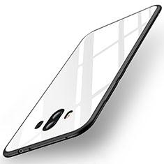 Coque Contour Silicone et Vitre Miroir Housse Etui pour Huawei Mate 10 Blanc