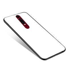 Coque Contour Silicone et Vitre Miroir Housse Etui pour Huawei Mate RS Blanc