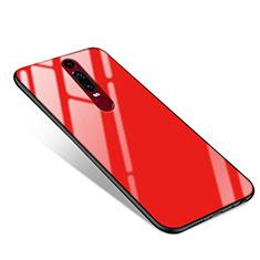 Coque Contour Silicone et Vitre Miroir Housse Etui pour Huawei Mate RS Rouge