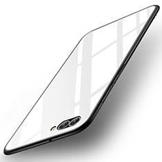 Coque Contour Silicone et Vitre Miroir Housse Etui pour Huawei Nova 2S Blanc