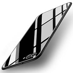Coque Contour Silicone et Vitre Miroir Housse Etui pour Huawei Nova 2S Noir