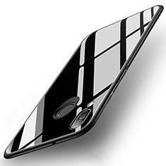 Coque Contour Silicone et Vitre Miroir Housse Etui pour Huawei P20 Lite Noir