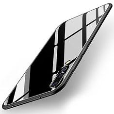Coque Contour Silicone et Vitre Miroir Housse Etui pour Huawei P20 Pro Noir