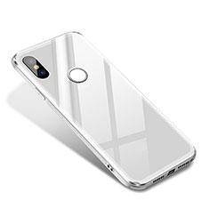 Coque Contour Silicone et Vitre Miroir Housse Etui pour Xiaomi Mi 8 SE Blanc
