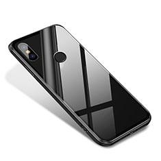 Coque Contour Silicone et Vitre Miroir Housse Etui pour Xiaomi Mi 8 SE Noir