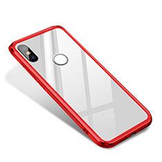 Coque Contour Silicone et Vitre Miroir Housse Etui pour Xiaomi Mi 8 SE Rouge