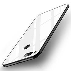 Coque Contour Silicone et Vitre Miroir Housse Etui pour Xiaomi Mi A1 Blanc