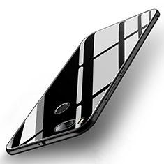Coque Contour Silicone et Vitre Miroir Housse Etui pour Xiaomi Mi A1 Noir