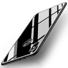Coque Contour Silicone et Vitre Miroir Housse Etui pour Xiaomi Mi A2 Noir