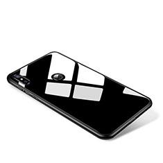 Coque Contour Silicone et Vitre Miroir Housse Etui pour Xiaomi Mi Mix 2S Noir