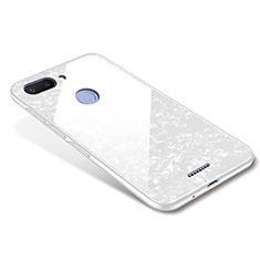 Coque Contour Silicone et Vitre Miroir Housse Etui pour Xiaomi Redmi 6 Blanc