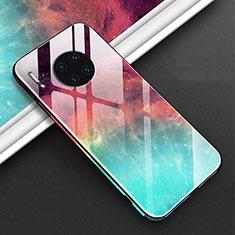 Coque Contour Silicone et Vitre Motif Fantaisie Miroir Etui Housse C01 pour Huawei Mate 30E Pro 5G Rouge