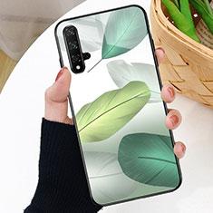 Coque Contour Silicone et Vitre Motif Fantaisie Miroir Etui Housse D01 pour Huawei Honor 20S Vert
