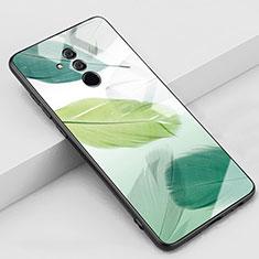 Coque Contour Silicone et Vitre Motif Fantaisie Miroir Etui Housse H07 pour Huawei Mate 20 Lite Vert