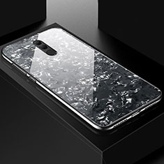 Coque Contour Silicone et Vitre Motif Fantaisie Miroir Etui Housse H09 pour Huawei Mate 20 Lite Noir