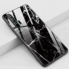 Coque Contour Silicone et Vitre Motif Fantaisie Miroir Etui Housse K01 pour Huawei Honor 20 Pro Noir