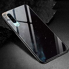 Coque Contour Silicone et Vitre Motif Fantaisie Miroir Etui Housse K01 pour Huawei P30 Noir