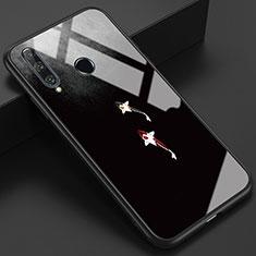 Coque Contour Silicone et Vitre Motif Fantaisie Miroir Etui Housse K03 pour Huawei Honor 20 Lite Gris