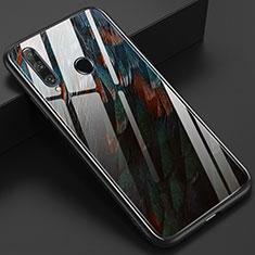 Coque Contour Silicone et Vitre Motif Fantaisie Miroir Etui Housse K04 pour Huawei Honor 20 Lite Marron