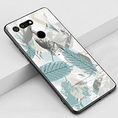 Coque Contour Silicone et Vitre Motif Fantaisie Miroir Etui Housse K05 pour Huawei Honor View 20 Cyan