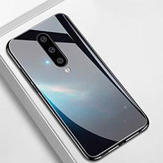 Coque Contour Silicone et Vitre Motif Fantaisie Miroir Etui Housse M01 pour OnePlus 8 Noir