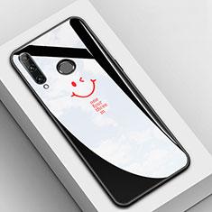 Coque Contour Silicone et Vitre Motif Fantaisie Miroir Etui Housse pour Huawei Enjoy 9s Noir