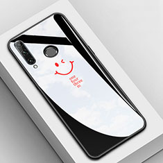 Coque Contour Silicone et Vitre Motif Fantaisie Miroir Etui Housse pour Huawei Honor 20i Noir