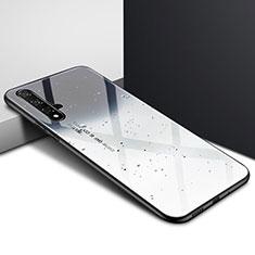 Coque Contour Silicone et Vitre Motif Fantaisie Miroir Etui Housse pour Huawei Honor 20S Gris