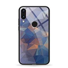 Coque Contour Silicone et Vitre Motif Fantaisie Miroir Etui Housse pour Huawei Honor V10 Lite Bleu