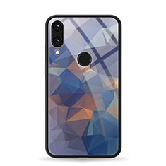 Coque Contour Silicone et Vitre Motif Fantaisie Miroir Etui Housse pour Huawei Honor View 10 Lite Bleu
