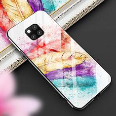 Coque Contour Silicone et Vitre Motif Fantaisie Miroir Etui Housse pour Huawei Mate 20 Pro Mixte