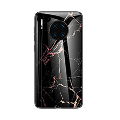 Coque Contour Silicone et Vitre Motif Fantaisie Miroir Etui Housse pour Huawei Mate 30 Pro 5G Noir