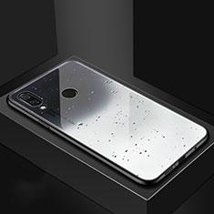 Coque Contour Silicone et Vitre Motif Fantaisie Miroir Etui Housse pour Huawei Nova 3i Gris