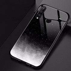 Coque Contour Silicone et Vitre Motif Fantaisie Miroir Etui Housse pour Huawei P30 Lite Noir