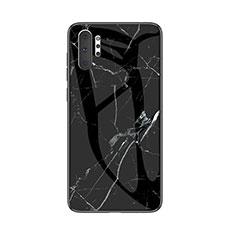 Coque Contour Silicone et Vitre Motif Fantaisie Miroir Etui Housse pour Samsung Galaxy Note 10 Plus 5G Noir