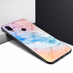 Coque Contour Silicone et Vitre Motif Fantaisie Miroir Etui Housse pour Xiaomi Redmi Note 7 Colorful