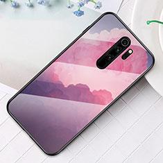 Coque Contour Silicone et Vitre Motif Fantaisie Miroir Etui Housse pour Xiaomi Redmi Note 8 Pro Violet