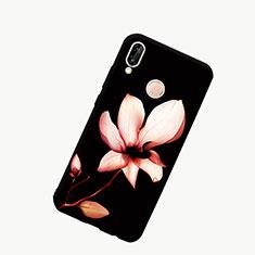 Coque Contour Silicone et Vitre Motif Fantaisie Miroir Etui Housse S01 pour Huawei Honor 10 Lite Noir