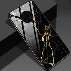 Coque Contour Silicone et Vitre Motif Fantaisie Miroir Etui Housse S01 pour Huawei Mate 30 Pro 5G Or