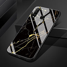 Coque Contour Silicone et Vitre Motif Fantaisie Miroir Etui Housse S01 pour Huawei P30 Lite Or