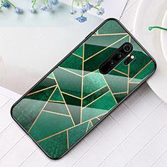 Coque Contour Silicone et Vitre Motif Fantaisie Miroir Etui Housse S01 pour Xiaomi Redmi Note 8 Pro Vert