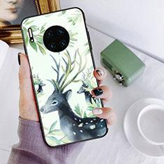 Coque Contour Silicone et Vitre Motif Fantaisie Miroir Etui Housse S02 pour Huawei Mate 30 5G Mixte