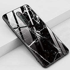 Coque Contour Silicone et Vitre Motif Fantaisie Miroir Etui Housse S03 pour Xiaomi Redmi Note 8 Pro Noir