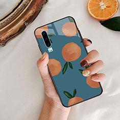 Coque Contour Silicone et Vitre Motif Fantaisie Miroir Etui Housse S04 pour Huawei P30 Bleu