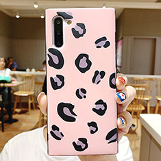 Coque Contour Silicone et Vitre Motif Fantaisie Miroir P01 pour Samsung Galaxy Note 10 5G Rose